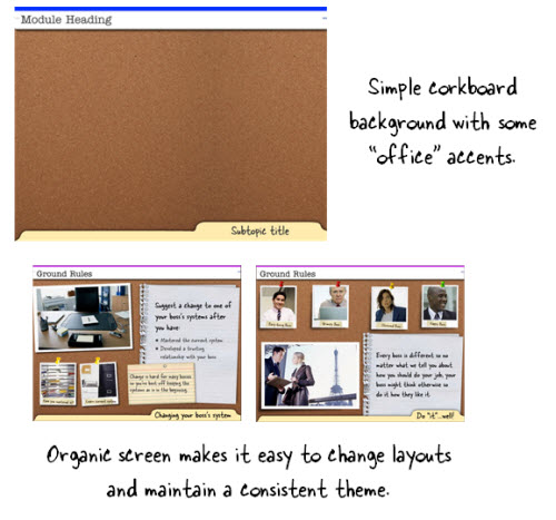 The Rapid E-Learning Blog - example of an organic elearning course background image