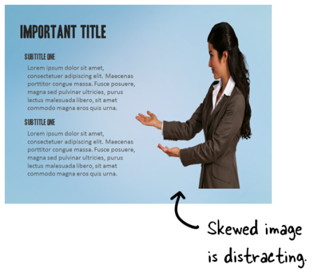 Articulate Rapid E-Learning Blog - skewed images in elearning are distracting