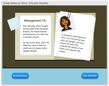 Articulate Rapid E-Learning Blog - example course for elearning