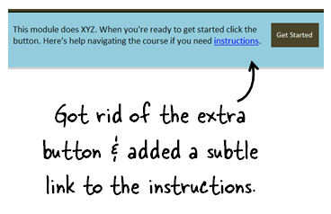 Articulate Rapid E-Learning Blog - get rid of less prominent buttons