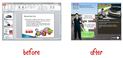 The Rapid E-Learning Blog - before and after elearning examples