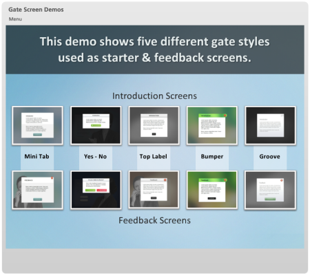 Articulate Rapid E-Learning Blog - demo of the elearning gates in Storyline and PowerPoint