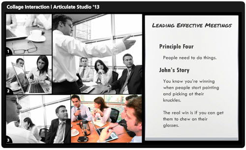 Articulate Rapid E-Learning Blog - example of an interactive story to replace bullet points