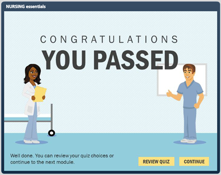 Articulate Rapid E-Learning Blog - elearning example of quiz results screen to build better courses