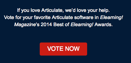 Articulate Rapid E-Learning Blog - vote for Articulate software for building online training courses
