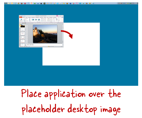 The Rapid E-Learning Blog - place application over teh desktop image
