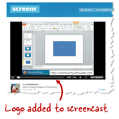 The Rapid E-Learning Blog - add a logo and custom brand to screencast tutorials