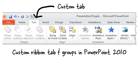 The Rapid E-Learning Blog - customize the ribbon in PowerPoint 2010