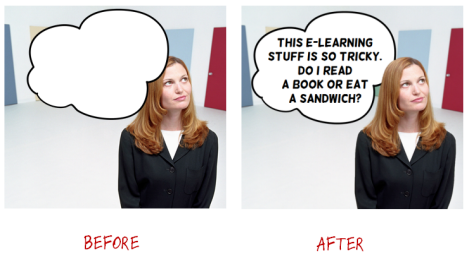 Articulate Rapid E-learning Blog - before and after versions of images customized in PowerPoint