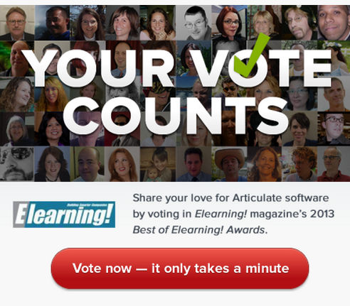 Articulate Rapid E-Learning Blog - vote for Articulate best in elearning