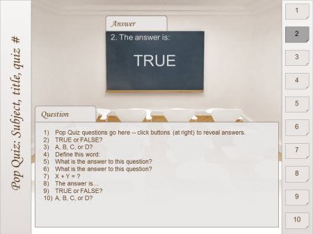 powerpoint quiz template free – sweatsweat, Powerpoint templates