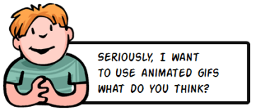 Should I use animated .gifs in my elearning courses