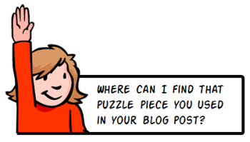 Where can I find that puzzle piece you used in your rapid elearning blog post?