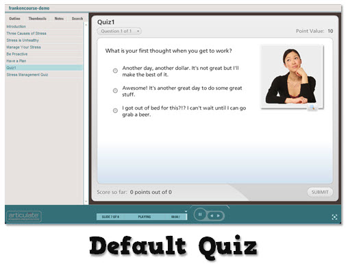 Articulate Rapid E-Learning Blog - using a default rapid elearning application
