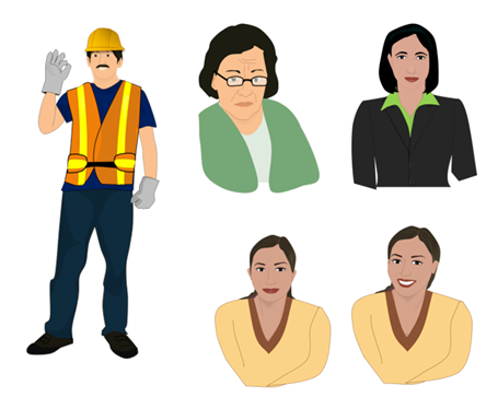 Articulate Rapid E-Learning Blog - more examples of illustrated characters created in PowerPoint