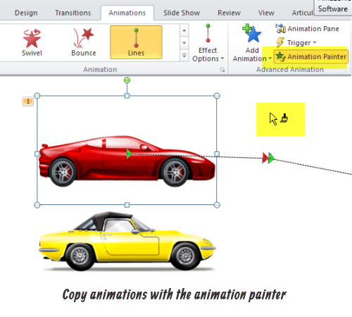 The Rapid E-Learning Blog - Copy animations with the animation painter in PowerPoint 2010