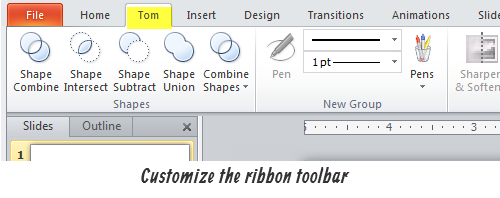 The Rapid E-Learning Blog - Customize the ribbon toolbar in PowerPoint 2010