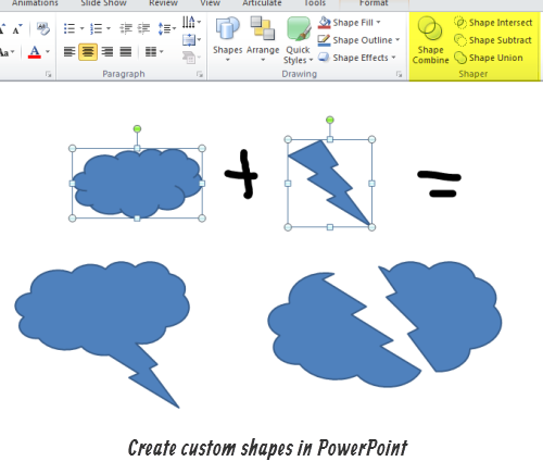 The Rapid E-Learning Blog - Create custom shapes in PowerPoint 2010