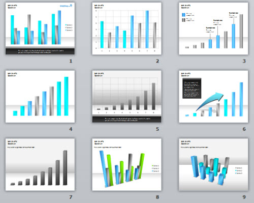 Articulate Rapid E-Learning Blog - free PowerPoint template using bar graphs