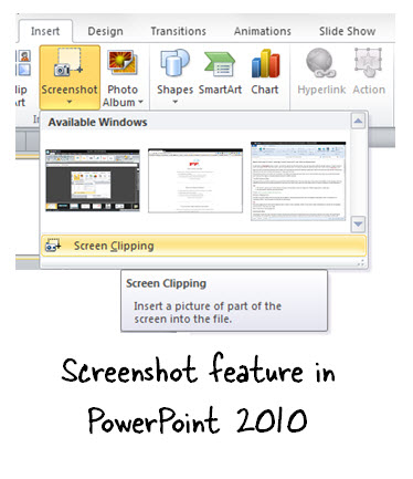 Articulate Rapid E-Learning Blog - Use PowerPoint 2010 for free screenshots