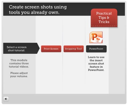 Articulate Rapid E-Learning Blog - how-to tutorial for Alt+PrintScreen, snipping tool, and PowerPoint 2010 screenshots