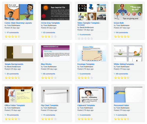 Articulate Rapid E-Learning Blog - free PowerPoint template available from the elearning community
