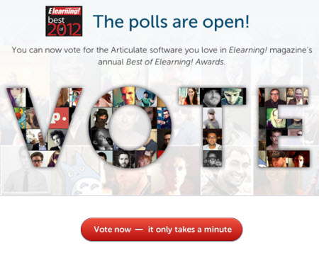 Articulate Rapid E-Learning Blog - vote for your favorite elearning tool