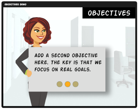 Articulate Rapid E-Learning  Blog - clickable learning objectives for online training and rapid elearning courses