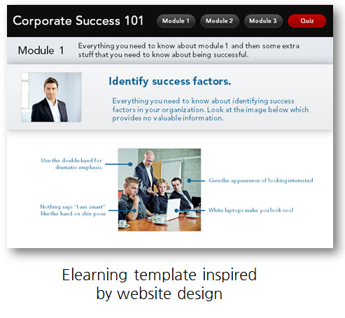 Articulate Rapid E-Learning Blog - elearning template from web page inspiration built in PowerPoint