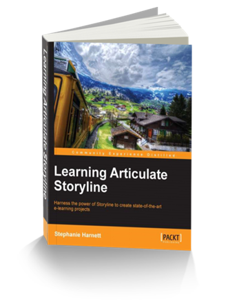 online training and elearning resources - Articulate Storyline book to help build interactive e-learning