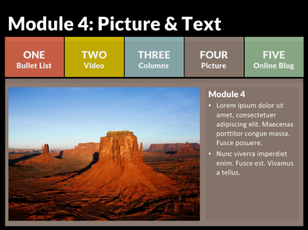 Speed up your interactive e learning with these free powerpoint articulate rapid e learning blog example of a multi colored tabs interaction and free toneelgroepblik Gallery