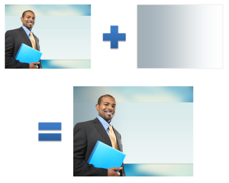 Articulate Rapid E-Learning Blog - how to combine layers in PowerPoint to create custom stock images