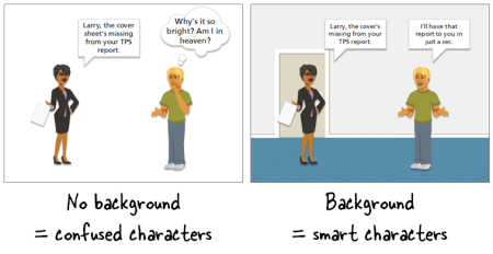 Articulate Rapid E-Learning Blog - free backgrounds for interactive scenarios that use avatars or characters