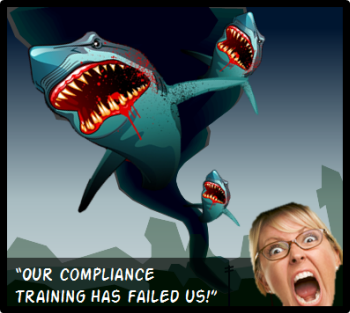 Articulate Rapid E-Learning Blog - compliance training meets Sharknado