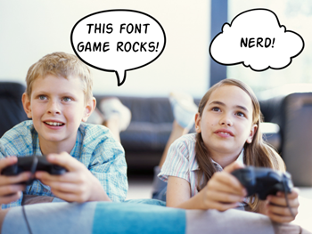 Articulate Rapid E-Learning Blog - learn about fonts in these games