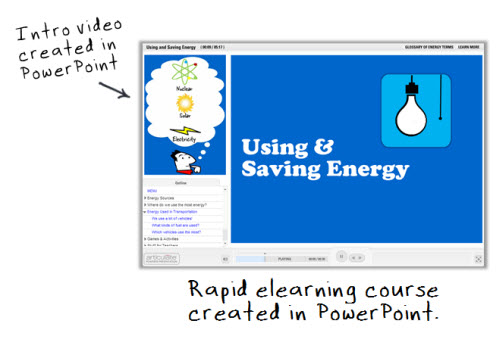 Articulate Rapid E-Learning Blog - use PowerPoint to create videos and rapid elearning courses