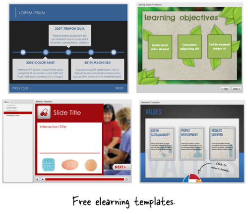 Articulate Rapid E-Learning Blog - free templates for elearning and PowerPoint-based course