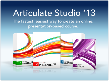 Articulate Rapid E-Learning Blog - Articulate Studio'13 with Presenter '13, Quizmaker '13, Engage '13 and Replay '13. Great for presentation-based elearning
