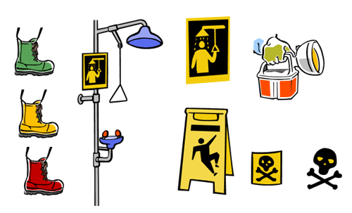 Articulate Rapid E-Learning Blog - examples of free safety training images