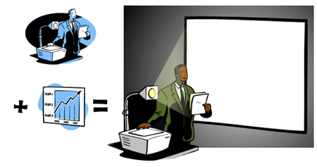 Articulate Rapid E-Learning Blog - how to create characters using PowerPoint clip art