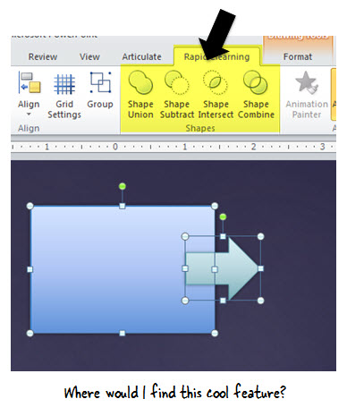 Articulate Rapid E-Learning Blog - how to find hidden features in Powerpoint