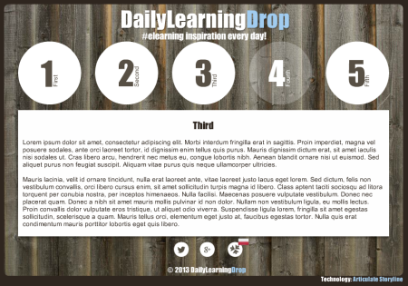 Articulate Rapid E-learning Blog - example of a weekly online training challenge
