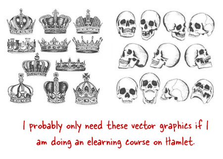 The Rapid E-Learning Blog - great graphics for Hamlet course