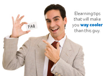 Articulate Rapid E-Learning Blog - be cooler than this guy by knowing these rapid elearning tips