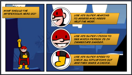 Articulate Rapid E-Learning Blog - comic book elearning examples using PowerPoint sample