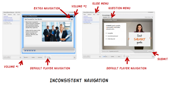 Articulate Rapid E-Learning Blog - inconsistent navigation