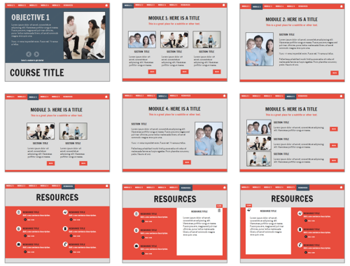 Here are some free e learning templates to speed up your course articulate rapid e learning blog layout options of free powerpoint templates toneelgroepblik