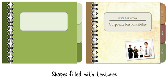Articulate Rapid E-Learning Blog - example of a shape filled with a free texture