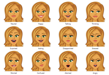 12 simple expressions for your custom characters