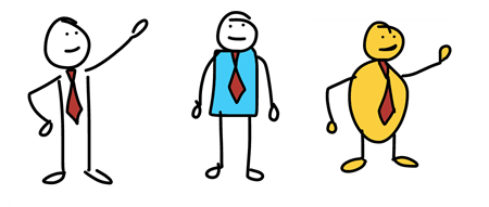 a three step process to create hand drawn custom characters the